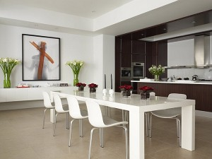 Stylish-white-dining-table-for-the-minimalist-home